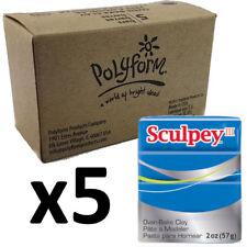 Sculpey III Polymer Clay - BLUE - Box of 5 x 57g - Just $3.30/Block