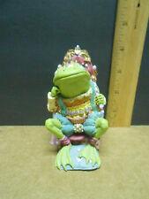 King Ribbit- Camelot Frogs Sculpture Hamilton Collection Steve Kehrli figurines