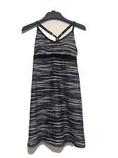 Athleta Dress Racerback Shelf Shore Break Bra Athletic Medium Black Gray White