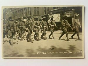 1 Cent Green Franklin Stamp on Historic WW1 Military Postcard From 1911