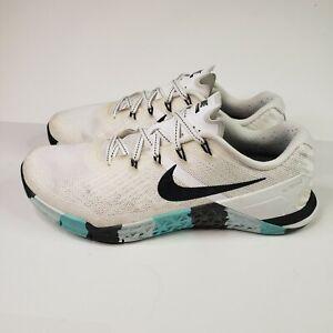 Nike Metcon 3 Women's Size 9 Training Shoe Atmosphere White Black 849807-101