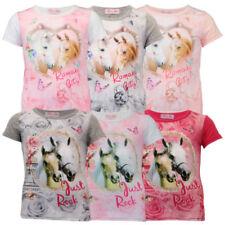 Camisetas y tops de niña de 2 a 16 años de manga corta rosa