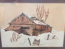 J. Morin 1976 Barn Print Framed