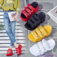Summer Girls Womens Platform Sandals Wedge Shoes High Heel Slipper Sport Sneaker
