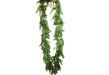 Hawaii Fancy Dress Leaf Garland Necklace Costume Accessory Green Tropical