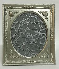 marco ovalado plata antigua BARROCO DE FOTO Shabby 19x17 Decoración c72p