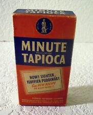 Vintage FULL/UNUSED-MINUTE TAPIOCA BOX w/CONTENTS (8oz Box)