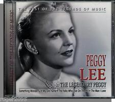 Peggy Lee - The Legendary Peggy - New 18 Song European CD! 40's to 60's Hits!