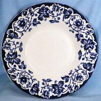 Antique Bramble Soup Bowl Wm Hulme Burslem England Flow Blue Flowers Dinnerware