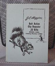 Original JC Higgins 42DL .22 Bolt Action Clip Repeater Rifle Manual 103.19800