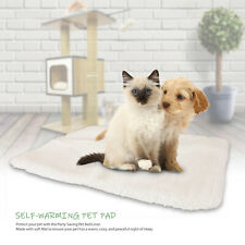 Pet Cat Rug Self Heating Dog Bed Mat Soft Warm Thermal Foldable Washable Pad New