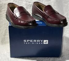 SPERRY  BOYS - PENNY LOAFER BURGUNDY -  REG $57.00 NOW $35.99