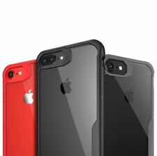 Shockproof Clear Thin Hard Bumper TPU Case Cover For Apple iPhone X 8 7 Plus 6s