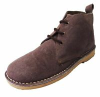 Roamers Plum 3 Eyelet Retro MOD Style Real Suede Desert Boots