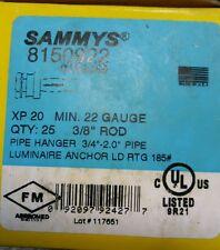 """SAMMYS (8150922) Pipe Hanger for 3/8"""" rod (25pcs)"""