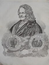Gravure Portrait THORVALDSEN ART SCULPTURE DANEMARK DENMARK NEOCLASSIQUE 1840
