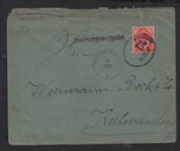 South Africa 1917 Windhoek Local Post cover censor B 10c oval PMK WS13273