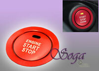 RED KEYLESS ENGINE PUSH START BUTTON TRIM AND COVER RING FOR SUBARU BRZ FORESTER