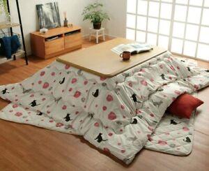 IKEHIKO Fluffy Kotatsu Cover & Mat 75 x75 inches Comforter mattress  animal Cat