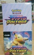 Full Unsealed Box (18 packets) Pokemon Sword &Shield Vivid Voltage Trading Cards