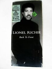 LIONEL RICHIE GREATEST HITS LONGBOX CD PROMO HYPE STICKER HELLO BACK TO FRONT LP