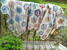 Vintage Grandmother's Flower garden quilt