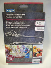 111589 Flexibles Grillspiess-set 4stck Edelstahl Portionierer