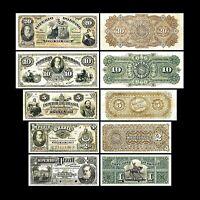 Brésil -  2x 1 - 20 Mil Reis Edition 1869 - 1886 Dom Pedro II - Reproduction 43