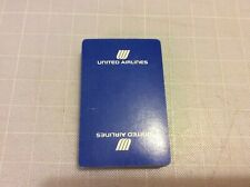 UNITED AIRLINES PLAYING CARDS USED INFLIGHT GIFT 52 CARDS NO JOKER