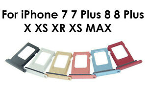 Premium Nano SIM Card Slot Replacement Tray for iPhone 7 8 X XR XS XS Max Plus