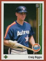 1989 Upper Deck #273 Craig Biggio Pack Fresh MINT ROOKIE RC Houston Astros HOF