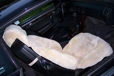 MBZ Sheepskin Seat Covers for SL (129 Chassis),1 Pair-Beige(w/Headrest Covers)