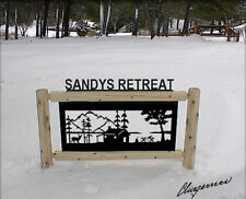 CABINS - RUSTIC LOG CABIN DECOR - CLINGERMANS OUTDOOR SIGNS