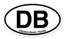 "DB Daytona Beach florida Oval car window bumper sticker decal 5"" x 3"""