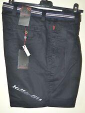 Bermuda uomo classico taglia 50 blu scuro Pantalone corto 100% cotone leggero