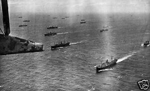 "Atlantic convoy battle for the atlantic  Navy WWII 10"" x 8"" photo print"