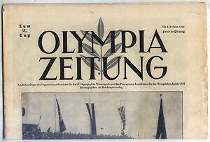 07.02.1936 OLYMPIA ZEITUNG Number 3 - Olympic Games Garmisch-Partenkirchen 1936