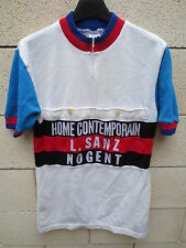 VINTAGE Maillot cycliste NOGENT poche devant années 70 cycling jersey France 4 L