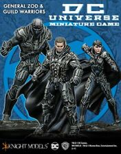 General Zod and Guild Warriors 35mm Batman Miniature Game Universe Knight Models