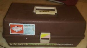 Vintage Flambeau Adventurer 1735 Crank-Spinner Combo Fishing Tackle Box Nice
