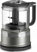 Architect KitchenAid KFC3516ACS 3.5 Cup Mini Food Processor Chopper Cocoa Silver