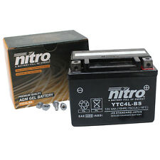 Batterie Starterbatterie Nitro Gel 12V 4AH YTX4L-BS mit 30% mehr Startleistung