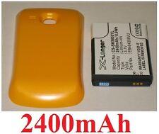 Custodia Giallo + Batteria 2400 mAh tipo EB464358VU per SAMSUNG GT-S6500D