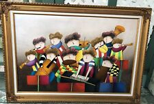 Canvas Oil Painting Musician Children by J.Roybal