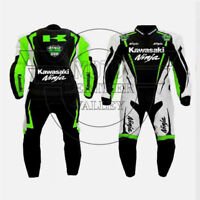 Kawasaki motorbike, motorcycle motogp racing leather suit biker suits