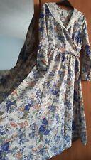 Laura Ashley Vintage Floral Long Sleeved Dress Size 12