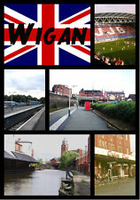 WIGAN (GREATER MANCHESTER) - SOUVENIR NOVELTY FRIDGE MAGNET - NEW - GIFTS