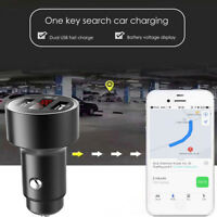 Car GPS Tracker Locator Real Time Tracking Device Dual USB Charger Voltmeter