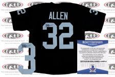 Marcus Allen Signed Black Pro Style Jersey Beckett Witnessed