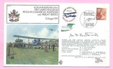 GB 1979 RAF Cover FIRST UK COMMERCIAL PASSENGER & FREIGHT SERVICE - Pilot Signed